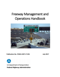 cover of the Freeway Management & Operations Handbook final draft